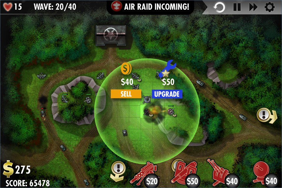 iBomber Defense LITE Screenshot 3